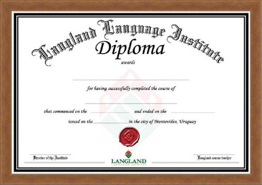 Frame for Diploma Din-A4 cherry
