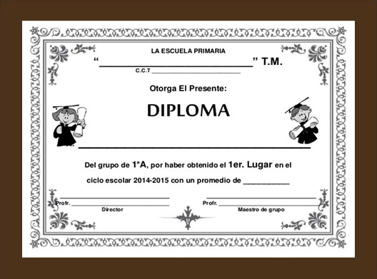 Frame for Diploma Din-A4 Brown