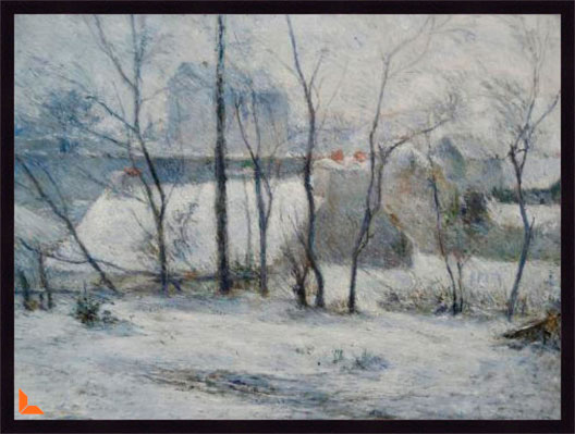 Canvas Winter Landscape  - Gaugin