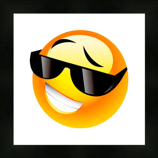 Cuadro emoticono gafas de sol cu0011953 en oferta enmar k2 - Emoticono gafas de sol ...