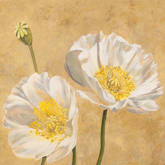 Poppies on Gold I
