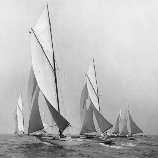Sailboats Sailing Downwind, 1920 (detail)
