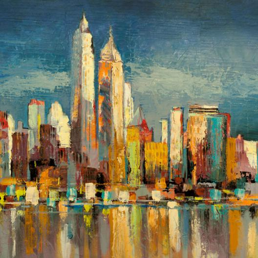 Manhattan Aqua (detail)