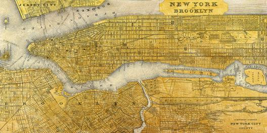 Gilded Map of NYC