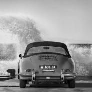 Ocean Waves Breaking on Vintage Beauties (BW detail 1)