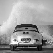 Ocean Waves Breaking on Vintage Beauties (BW detail 2)