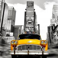 Vintage Taxi in Times Square, NYC (detail)