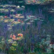 Waterlilies: Green Reflections (detail)