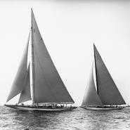 Sailboats in the America´s Cup, 1934 (detail)