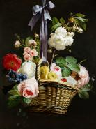 A Romantic Basket of Flowers