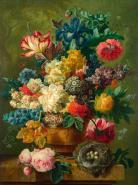 Composition of Flowers in a Vase