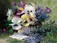 Pansies and Forget Me Not