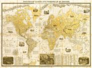 Gilded 1859 Map of the World
