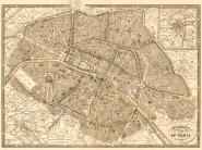 Plan of Paris and Environs, 1865
