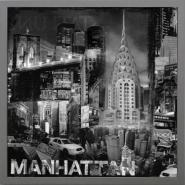 "Lit ""Manhattan in Black and White III"""