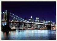 Lit. Brooklyn Bridge at Night G