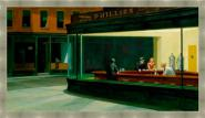 "Nighthawks ""Edward Hopper"" Gris"