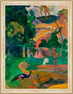 Landscape with Peacocks M
