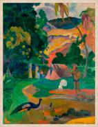 Canvas Landscape with Peacocks - Gaugin