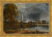 Study for Salisbury Cathedral from the Meadows L