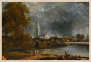 Canvas Salisbury Cathedral from Bishop