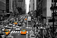 New York Black, White and Yellow I M